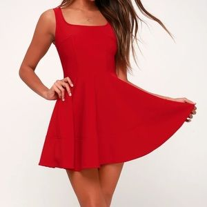 Lulus Home Before Daylight Red Dress